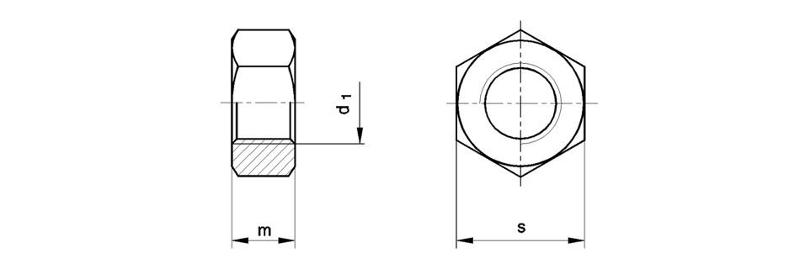 Fastening guide rails and accessories - Hexagon nuts acc. to DIN 934-8 (ISO 4032)