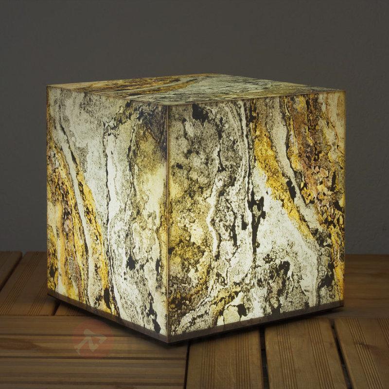 Cube lumineux décoratif en schiste naturel - Lampes d'extérieur design