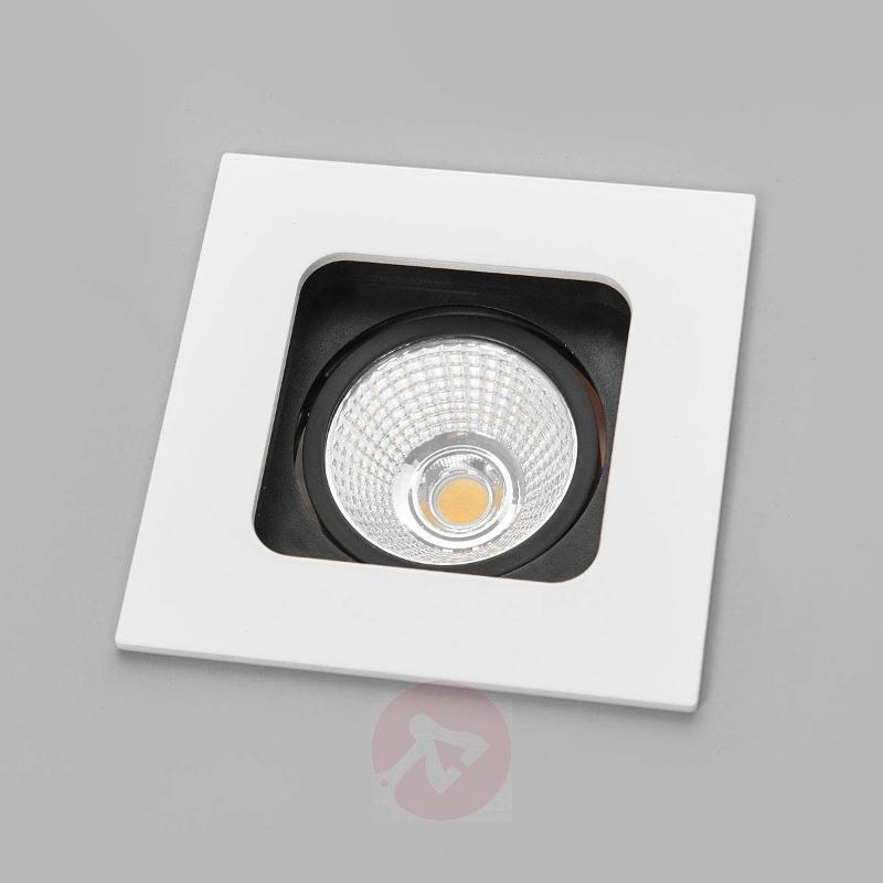 Rectangular LED downlight SQL, pivotable reflector - Recessed Spotlights