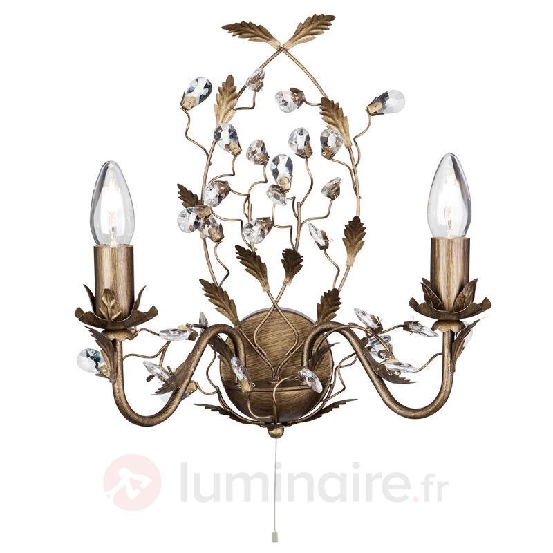 Applique murale Almandite style florentin 2 lampes - Appliques style florentin
