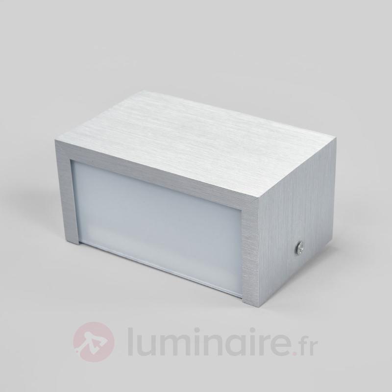 Applique en aluminium rectangulaire Nelli avec LED - Appliques LED