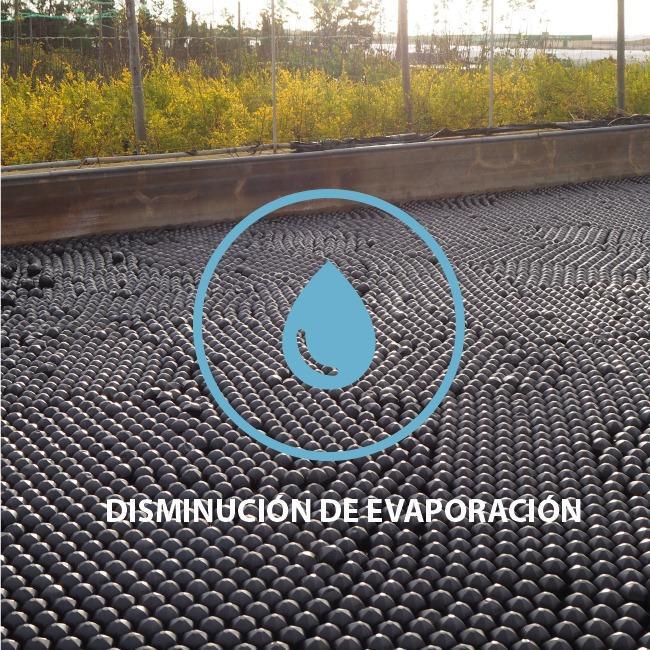 Control de la evaporación - Reducción de hasta un 94% de la evaporación