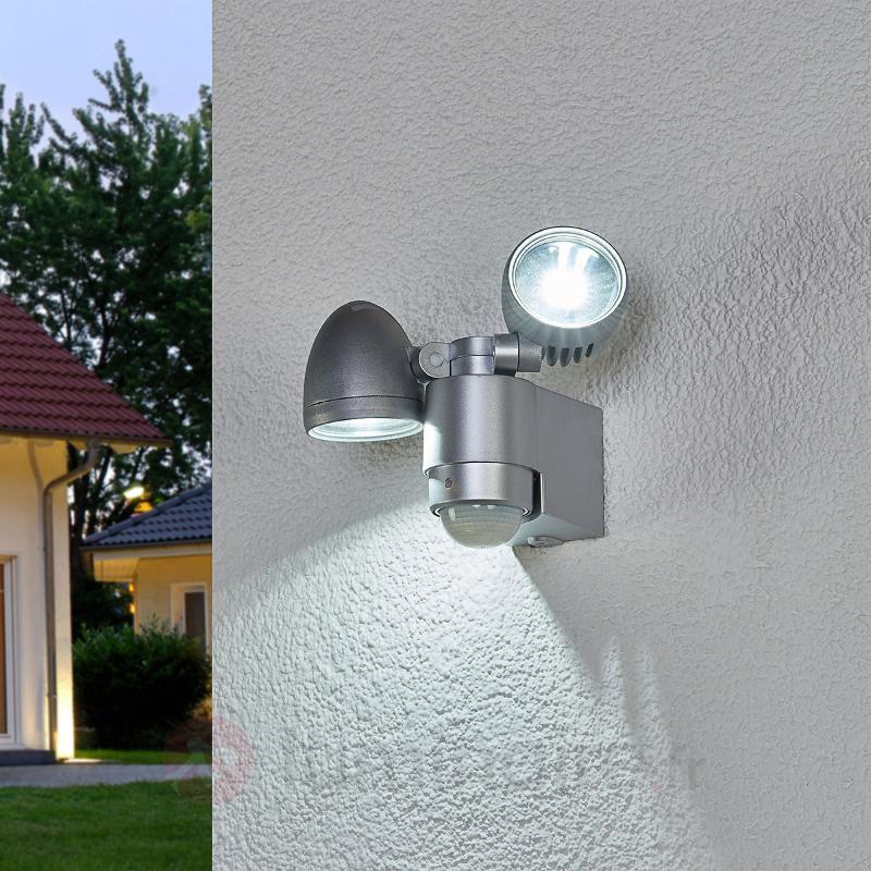 Projecteur ext. à deux lampes Todora av. détecteur - Appliques d'extérieur avec détecteur