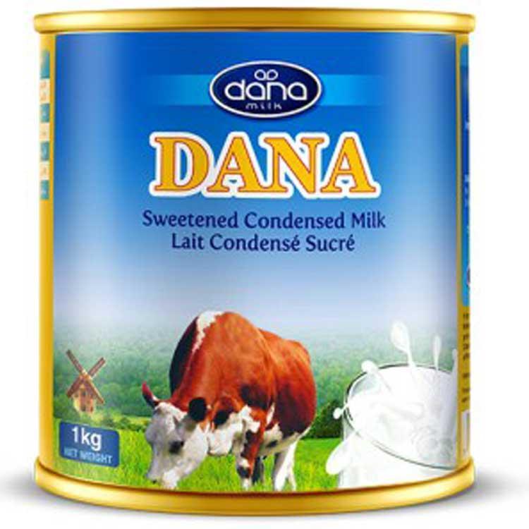 Leche condensada DANA - Disponible en latas de 400g o 1kg