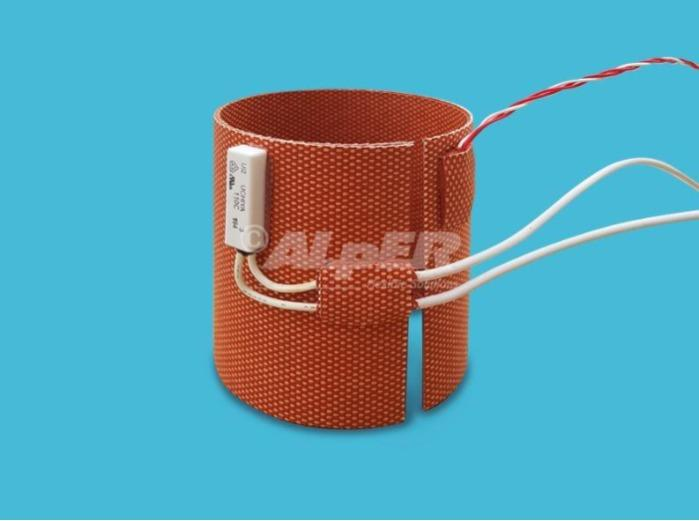 Riscaldatore termoformato in silicone etched foil -