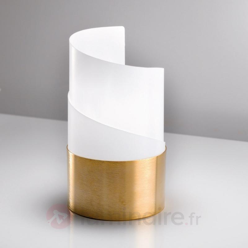 Lampe à poser élégante Caracòl pied finition dorée - Lampes de chevet