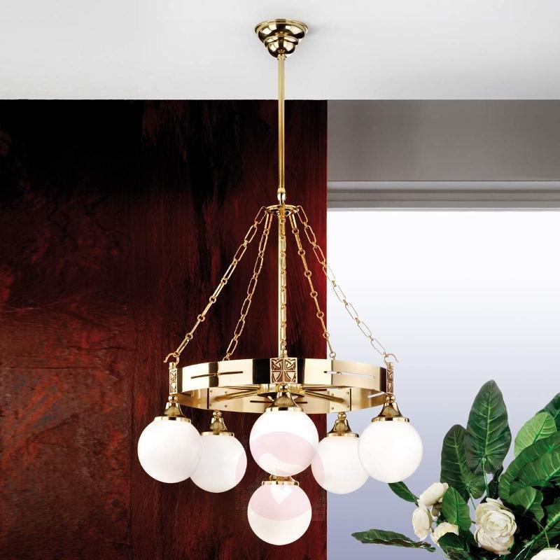 Eleganzia Chandelier Perfect Shape in Brass - Pendant Lighting
