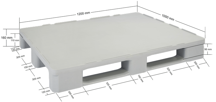 Plastic Pallet- Hygienic - HP1210/V2