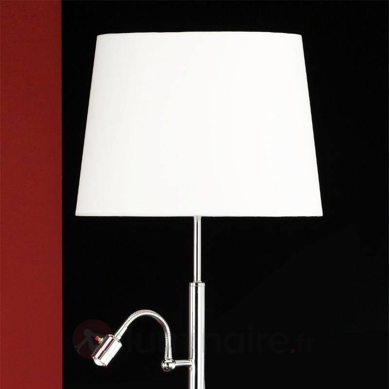 Lampadaire Lavo avec liseuse LED - Lampadaires en tissu