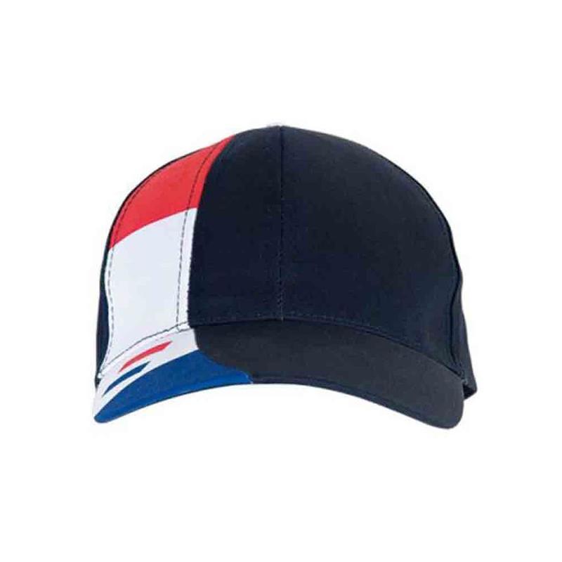 Casquette supporter 6 panneaux tricolor - Casquettes