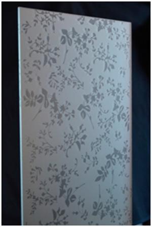 Silkscreened glass for furniture K3