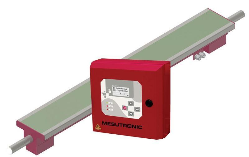 Plate metal detector to inspect non-woven fabrics or foils - METRON 05 ProfiLine