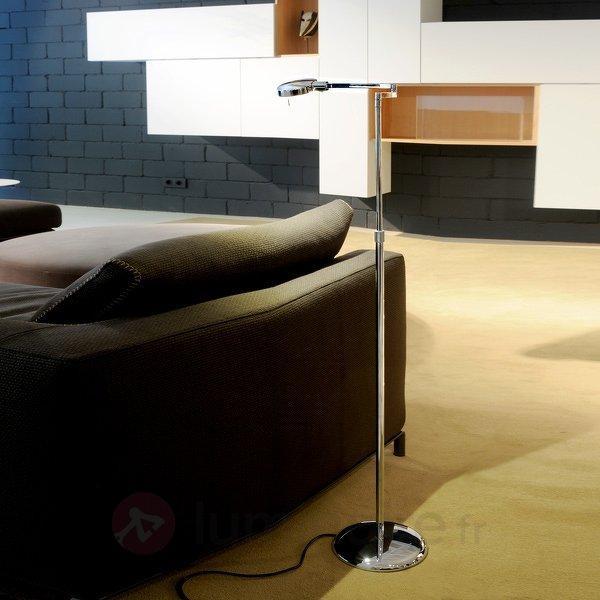Lampadaire à 1 lampe hauteur variable 3-LED - Lampadaires LED