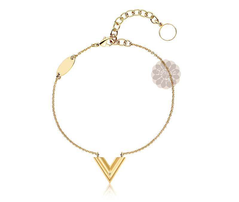 Gold Initial Bracelet -