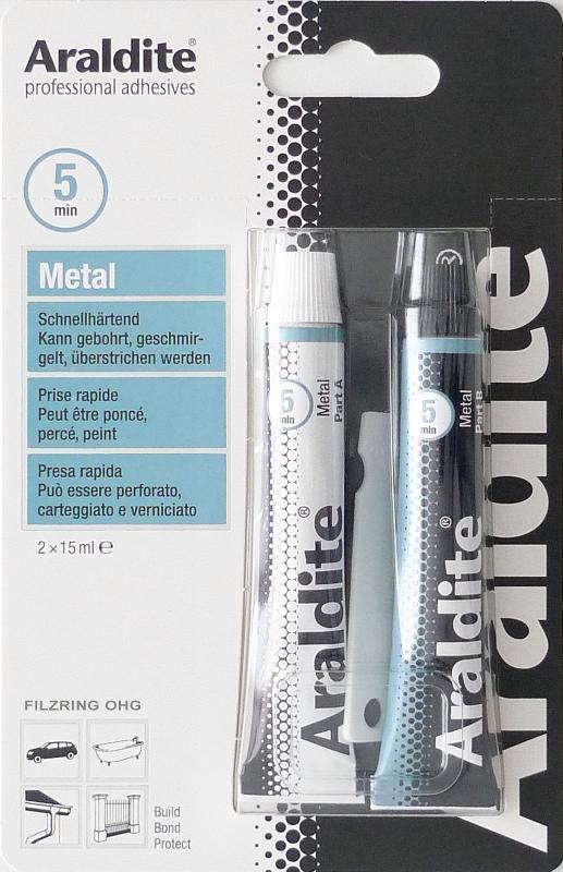 Araldite METAL | 2x15 ml im Blister - ARA-METAL-2X15