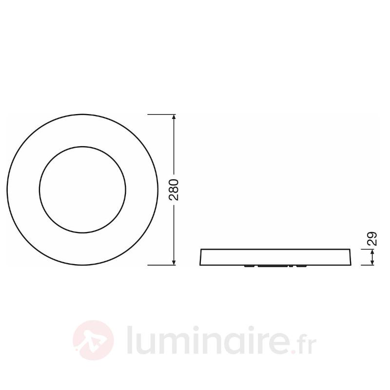 Plafonnier ou applique LED plat Ring - Plafonniers LED