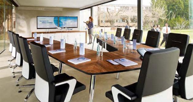 Konferenztisch mastermind - viele Tischformen möglich - null
