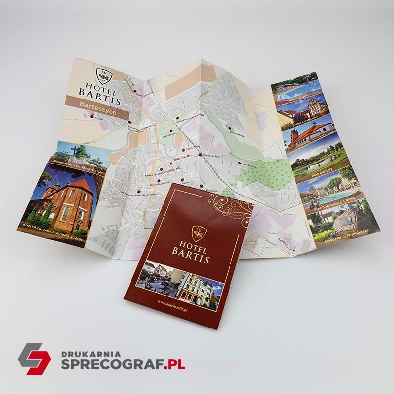 Druki hotelowe i mapy - etui na karty klucze, zawieszki, menu, notesy