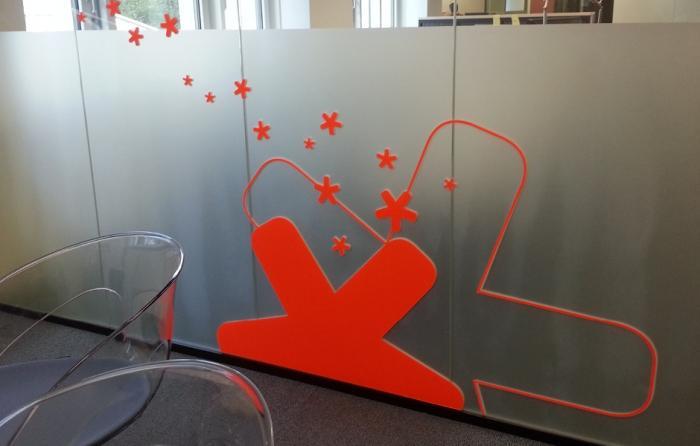 Signalétique - lettrage signaletique decoration murale