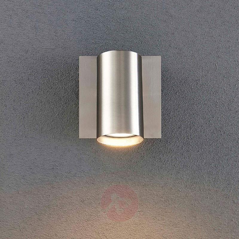 Nickel-colour LED wall and ceiling spotlight Iluk - Spotlights