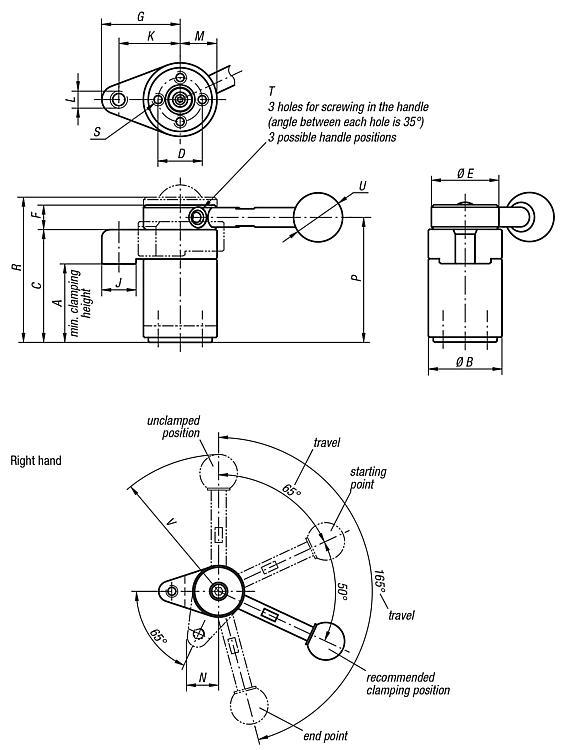 Swing Clamps - Clamp straps Clamping devices