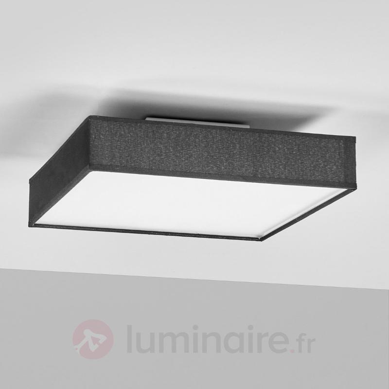 Plafonnier en tissu Aka, forme rectangulaire LED - Plafonniers en tissu