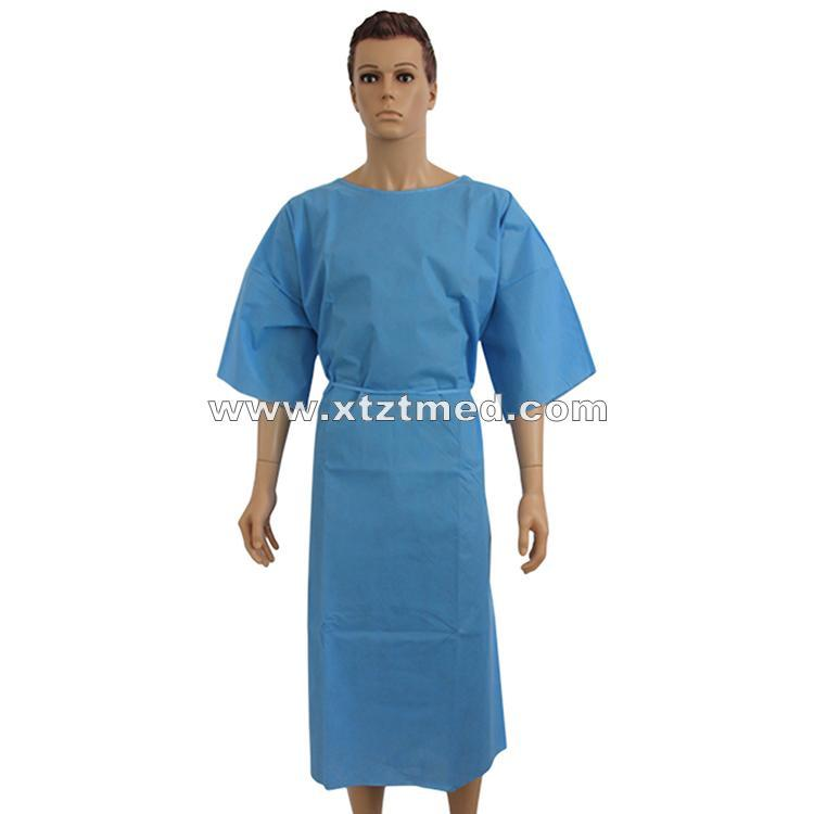 Vestido de Paciente de Manga Curta - Größe: S, M, L, XL