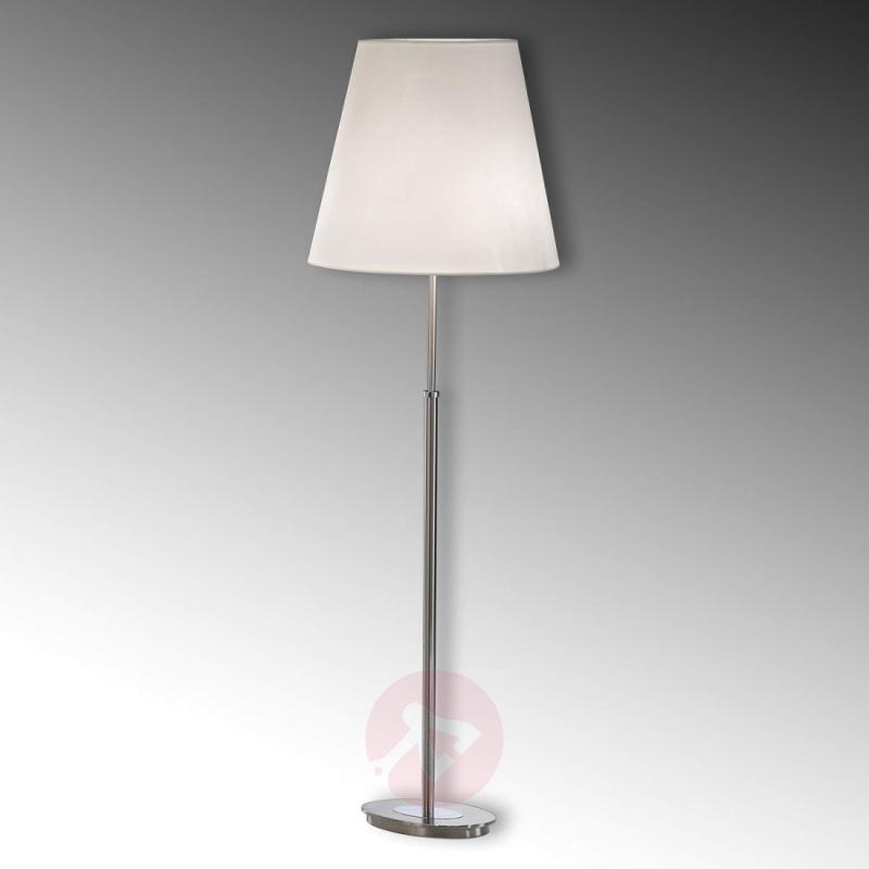 Lilly Nickel Floor Lamp with Fabric Shade - design-hotel-lighting