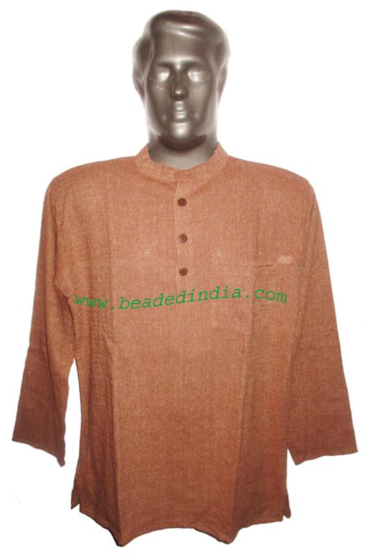 full sleeve long khadi yoga kurta, size : chest 50 x height  - full sleeve long khadi yoga kurta, size : chest 50 x height 34 inches (extra lar