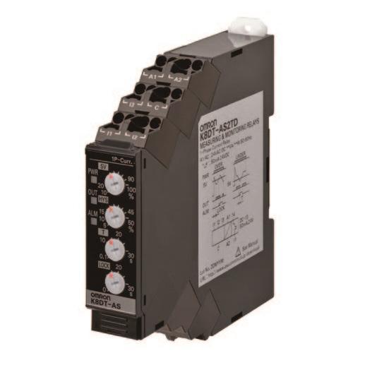 K8DT-AS  1-fasig stroombewakingsrelais - met Push-In Plus-technologie
