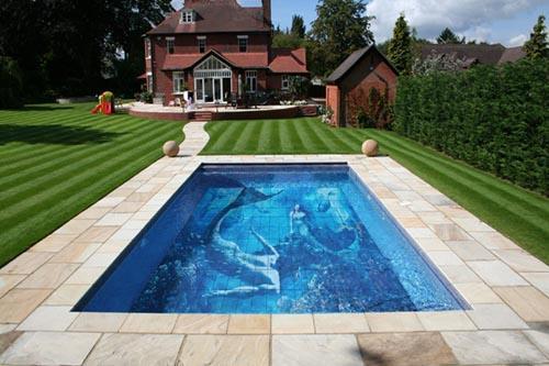 Custom Printed Pool Tiles - Custom Printed Ceramic Tiles for Pools