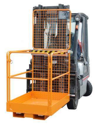 Sicherheitskorb Typ SIKO, Anbaugerät für Gabelstapler - Arbeitsbühne mit Einfahrtaschen für das sichere Arbeiten in der Höhe