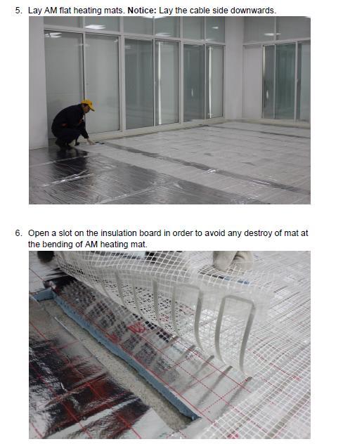 AM flat dry heating mat - Anze Heating mats Series