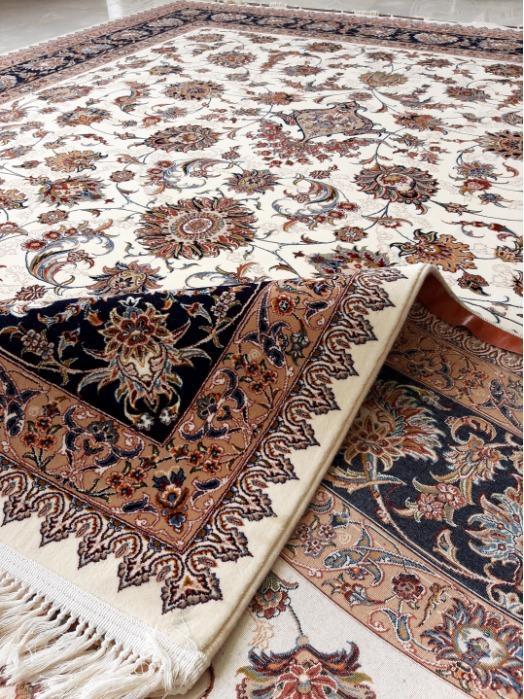 Zarafshan Design - Persian Handlook Carpet with superfine face