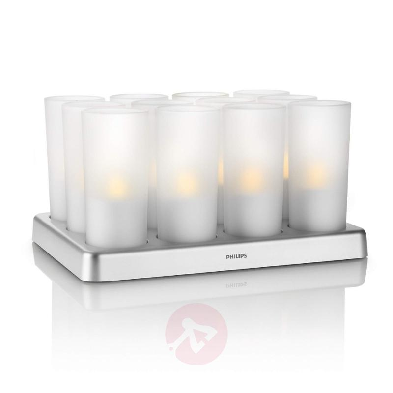 Imageo Candle Light with Power LED Set of Twelve - outdoor-led-lights