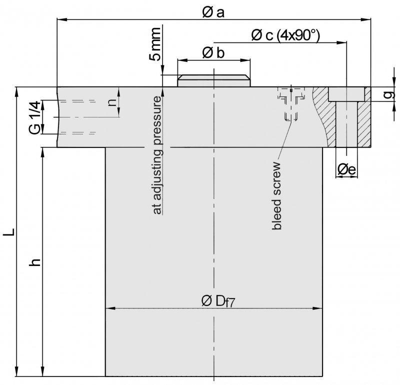 Federdruckzylinder ZDF-o - mechanisch Spannen – hydraulisch Lösen