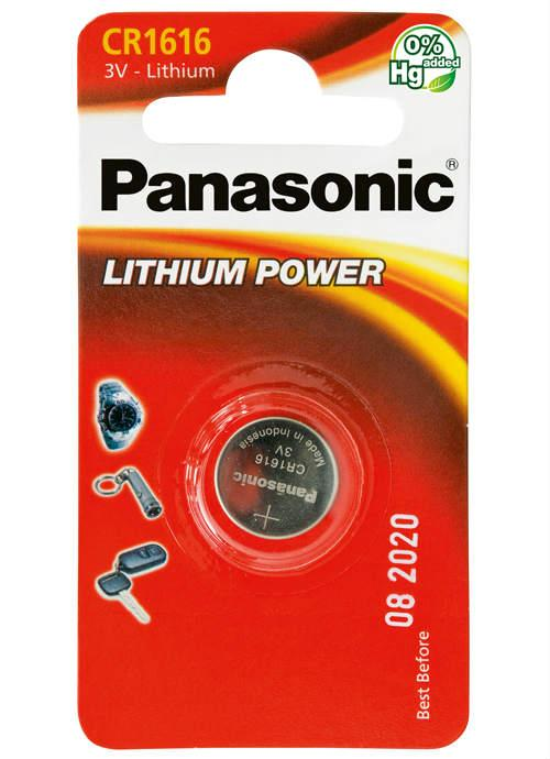 Batterie al litio a bottone CR1616 - CR-1616L/1BP | Blister da 1 microbatteria specialistica Panasonic