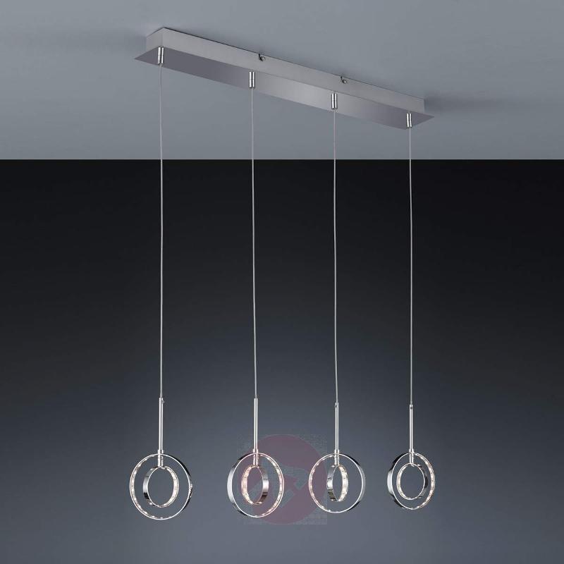 Four-light Prater LED hanging light - Pendant Lighting