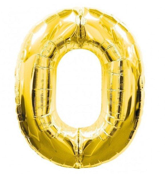 Folie ballonnen Cijfer Goud  - diverse Cijfers en afmetingen