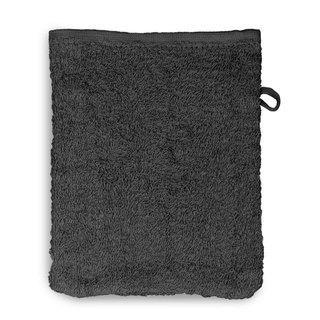 12 Stück Waschhandschuh Set 15x20cm anthrazit - null