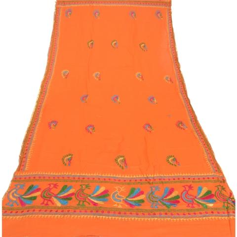 Hand Embroidered Georgette Ooak Dupatta