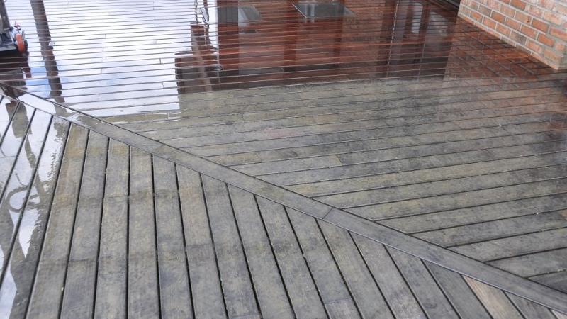 Dégrisage / nettoyage de terrasse en bois
