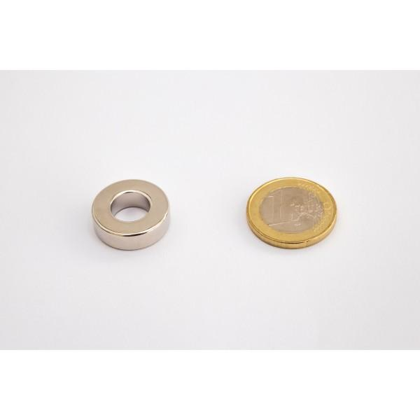 Neodymium ring magnet, 20/10mm, height 6mm, N45,... - null