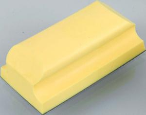 Handschleifblock formverschäumt in ergonomischen Formen - Für Flächen- und Radienschliff, Klettsystem