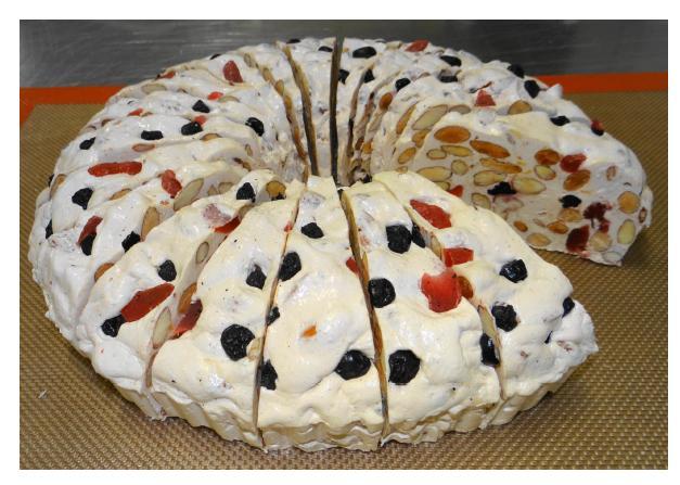 La tarte nougat fruits rouges - Épicerie sucrée
