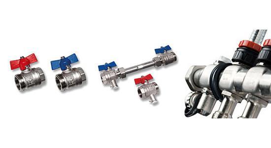 SANHA heating circuit distributors, stainless steel