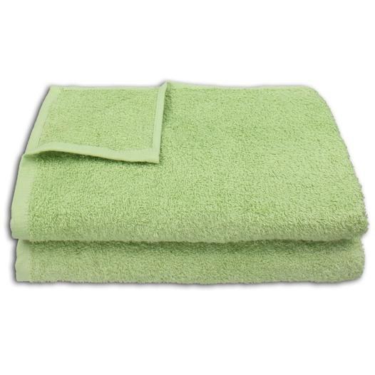 2 Stück Duschtuch Set 70x140cm Farbe: Jade - null