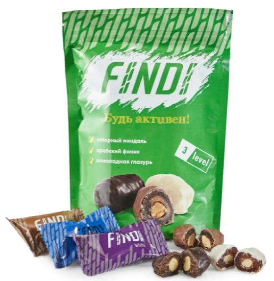 Glazed dates with almond, Assorted, 150g - FINDI