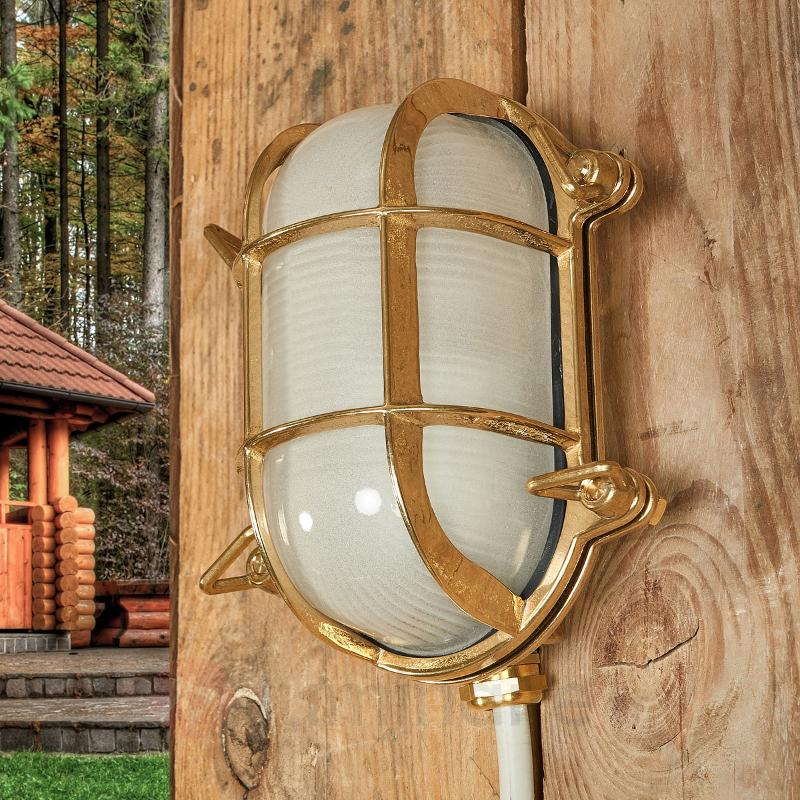 Applique murale ovale Bengt laiton - Appliques d'extérieur cuivre/laiton