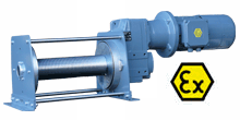 Electric Rope Winches PFW and PORTY - Electric Rope Winch PFW-EX